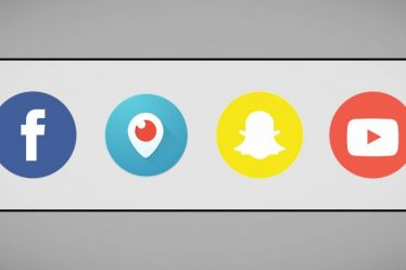 Logo de Facebook, Youtube, Snapchat y Periscope