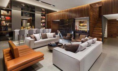 En la imagen se ve el diseño interior de un hogar.