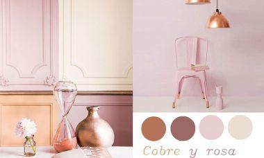 Decoración de hogar en color cobre.