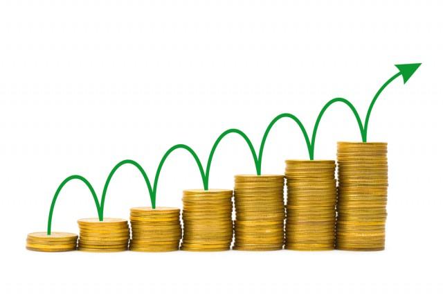 dinero en aumento