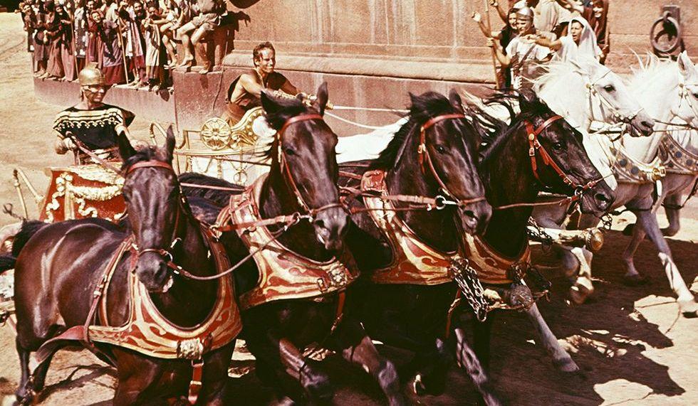 Charlton Heston en la película Ben Hur