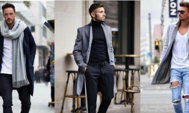 Hombres usando elementos esenciales de ropa para otoño