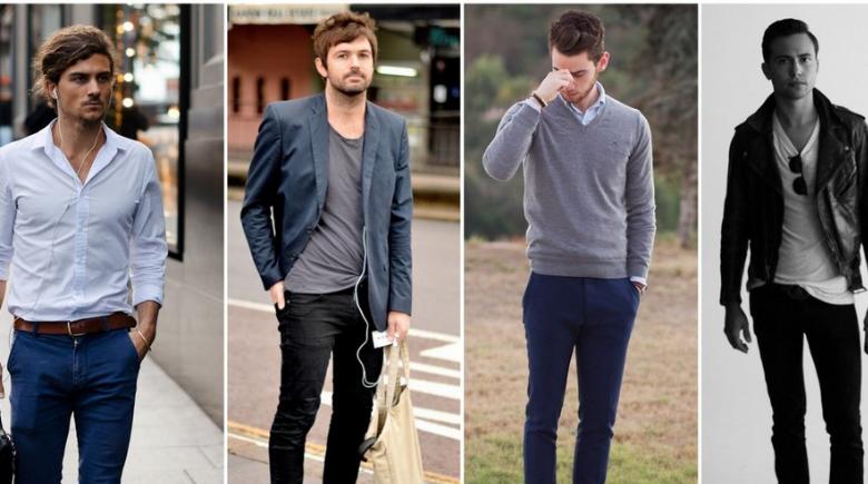 Hombres con distintas piezas de ropa.