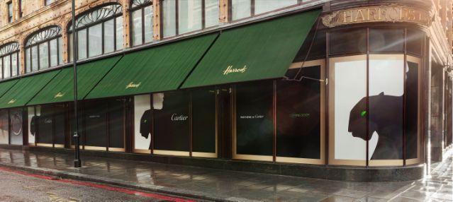 Experiencia Panthère de Cartier en Harrods exterior