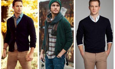 Hombres con diferentes suéteres